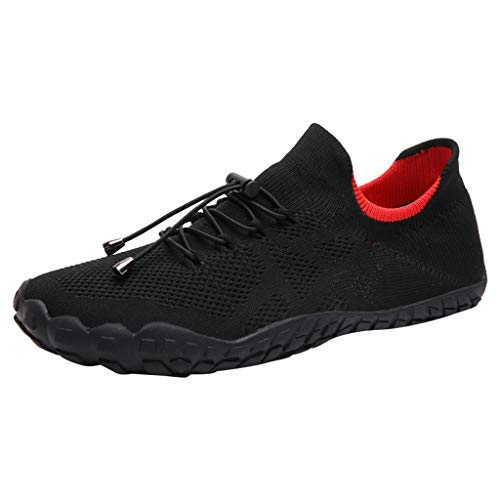 - iHPH7 Shoes Water Quick-Dry Aqua Socks Barefoot for Outdoor Beach Swim Sports Yoga Snorkeling New Shoes Mesh Shoes Leisure Sports are Breathable Shoe Men's (43,Black)