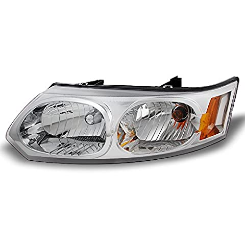 Saturn Ion 4 Door Sedan Clear Driver Left Side Front Headlight Head Lamp Front Light Replacement (Hid Saturn Ion)