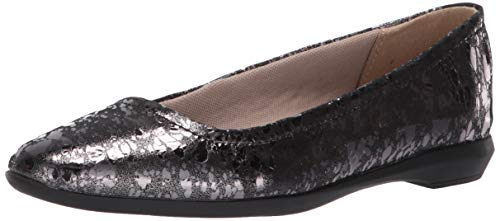 Naturalizer Women's ALYA Ballet Flat, Pewter Droplet, 12 M US