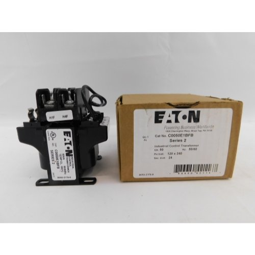 EATON CUTLER HAMMER C0050E1BFB 50 VA Type MTE Control Transformer with Primary Fuse Block