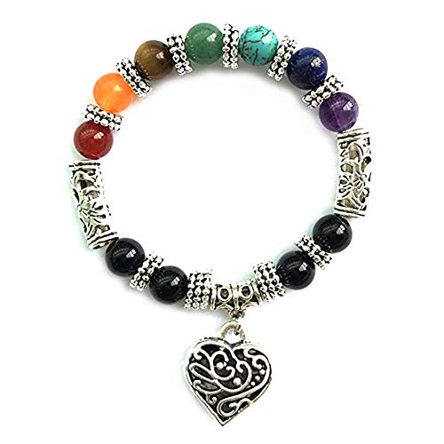- DFYtr511po Retro Colorful Bracelet Natural Crystal White Turquoise Tiger Eye Stone DIY Beaded Bracelet Charm Bracelet Gift Multicolor