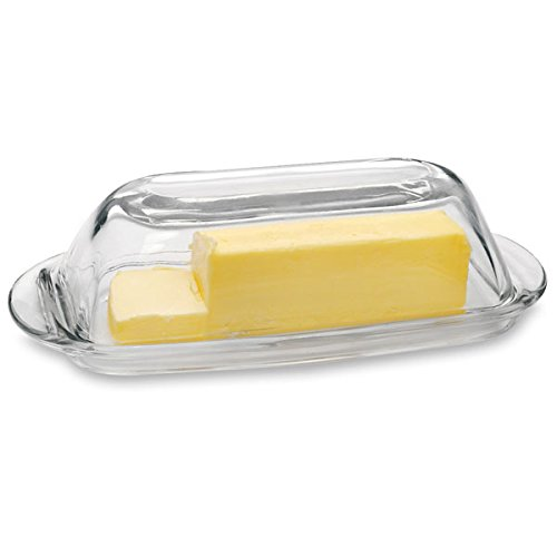 - Anchor Hocking Glass Butter Dish with Cover