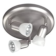 Canarm ICW356A03BPT10 James 3 Bulb Ceiling/Wall Light, Brushed Pewter