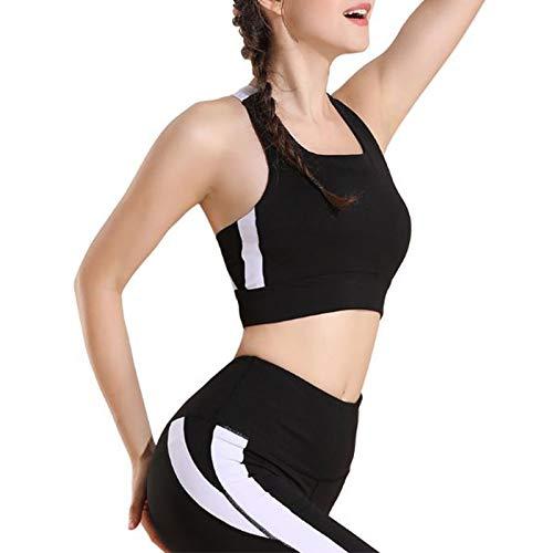 Zxl-yf Keine stahlsichere Stahlring-Sport-BHS, die Fitness-Unterwäsche Laufen Lassen (Farbe : SCHWARZ, größe : S)