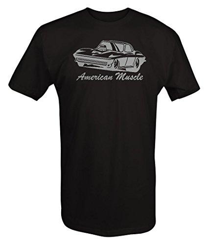 - Stealth - American Classic Chevy Corvette Stingray Blower Hood T shirt - Xlarge
