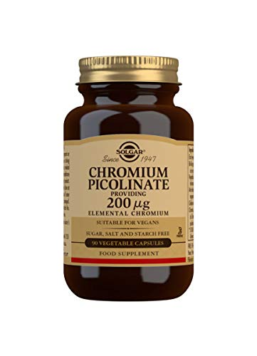 Solgar Chromium Picolinate 200 µg Vegetable Capsules - Pack of 90