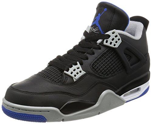 Nike Mens Jordan 4 Retro Black/Royal Leather Size 10 (Jordan 10 Air Men Retro)