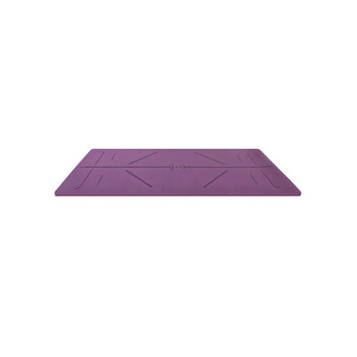 violet  Qiaoxianpo01 Tapis de Yoga, Tapis de Yoga Sportif avec Ligne du Corps, Tapis de Yoga Confortable et épaissi pour débutants, Cadeau (73,2  32 Pouces, 6 mm, Bleu, Rose, Violet) L'atmosphère