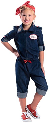 [Rosie the Riveter Costume] (Girl Construction Worker Costumes)