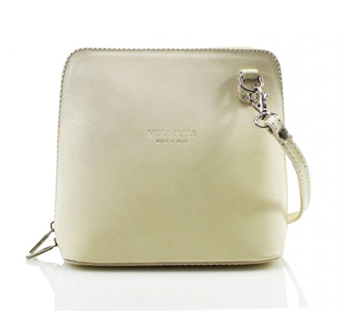 Bag Leather Pelle Mini Genuine Beige Body or Vera Italian Cross Bag Shoulder STqqnwO5v