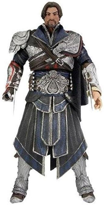 Amazon Com Neca Assassin S Creed Ezio Action Figure Onyx Costume Unhooded Onyx Limited Clothing