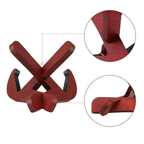 Soarun Sapele Wooden Ukulele Stand, Wood Musical Instrument Stand for Ukulele, Violin and Mandolin,