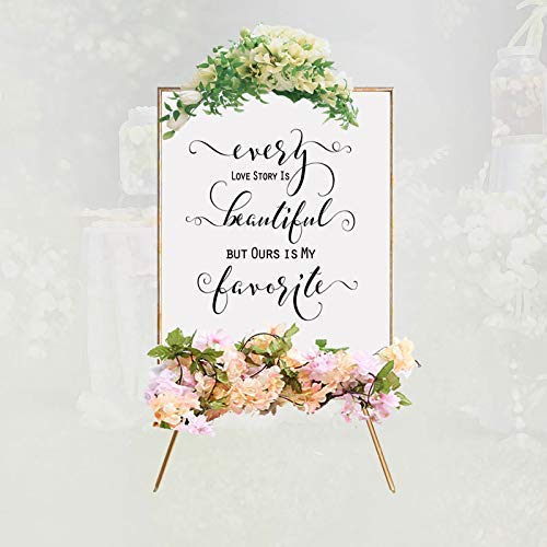 Every Love Story Is Beautiful But Ours Is My Favorite Decor Wedding Quotes Love Engagement Table Sign Deco Reception Signage Chic Art 8x10 Inches No Frame