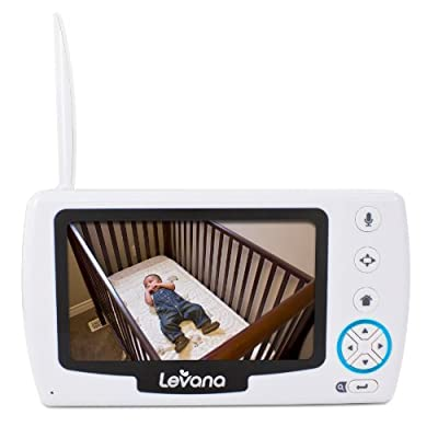 "Levana Stella 4.3"" PTZ Digital Baby Video Monitor with Talk to Baby Intercom"
