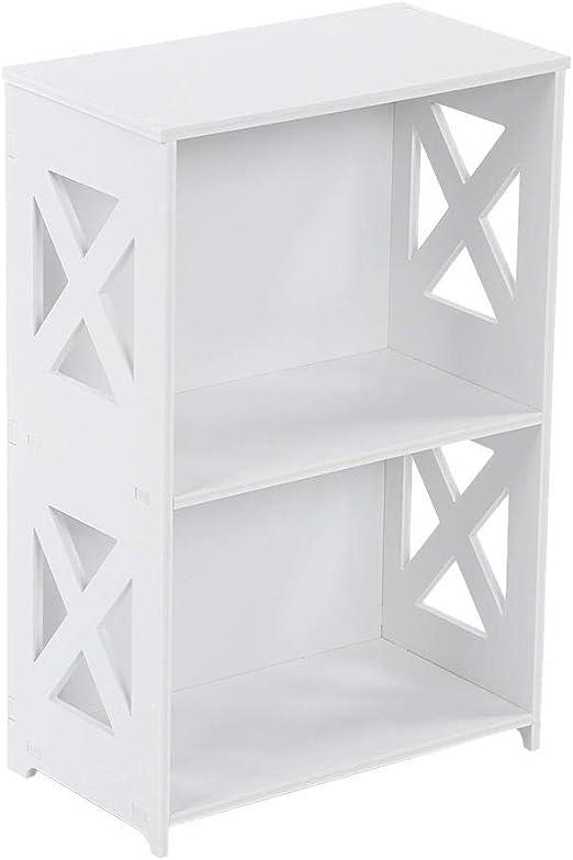 EBTOOLS Bücherregal mit 2 Ebenen, Bücherregal, Bücherregal ...