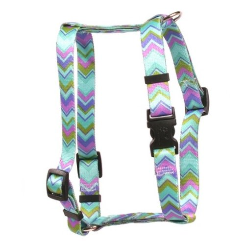 Yellow Dog Design Chevy Stripe 28-Inch to 36-Inch Harness, X-Large, bluee