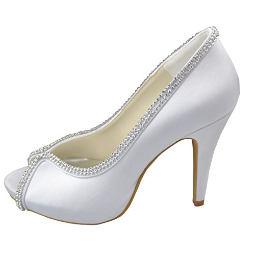Minitoo Sparkle Femmes Sandales Soirée Satin Talon Sexy Gyayl152 Chaussures Ouvert Haut Stiletto Blanches Mariée Bout raw5qrzZxS