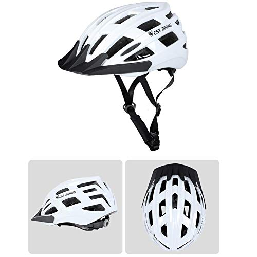 Allround Helmets,Bike Helmet Breathable Detachable Brim Removable Lining Head Protection Safety Helmet for Road Cycling…