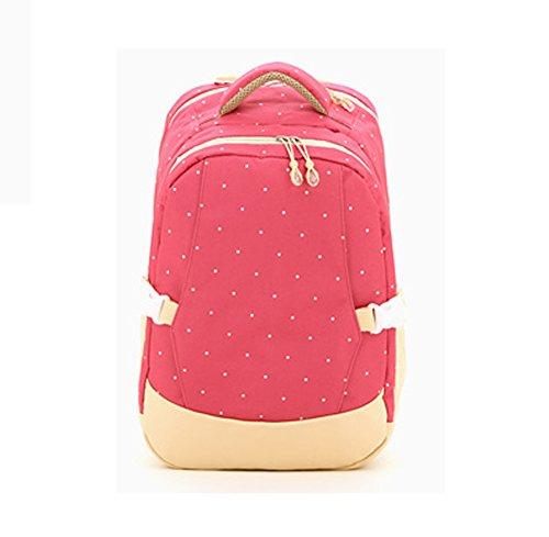 Multifunktionale Großraum-Mama-Tasche, Schultern aus dem Paket, Mutter-Paket, Mode Mutter Tasche, Mutter Baby-Tasche ( Farbe : Rot ) Rose red