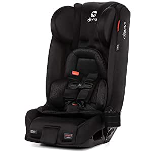 Diono Radian 3RXT, 4-in-1 Convertible Extended Rear & Forward Facing Car Seat, Steel Core, Ultimate Safety and Protection, Slim Design - Fits 3 Across, Jet Black