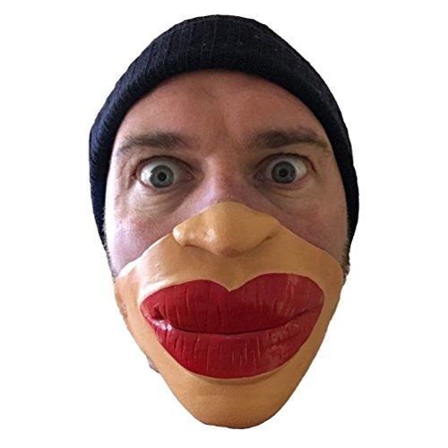 Costumes Jagger Mick (Funny Half Face Big Botox Fat Red Lips Mask , Jagger , Smile , Batchelor)