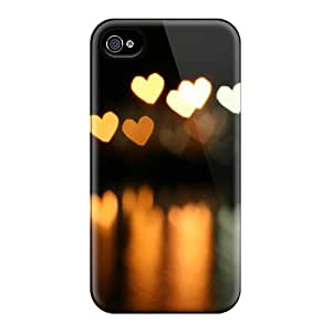 Brand New 4/4s Defender Case For Iphone (heart Bokeh)