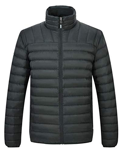 TBMPOY Men's Winter Puffer Down Jacket Lightweight Insulated Packable Warm Coat(ArmyGreen,us XL) (Mens Down Jacket 850 Fill)