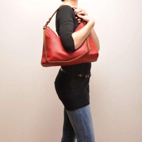 Berba , Sac pour femme à porter à l'épaule Rouge Rouge