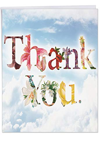 J2359ATYG Jumbo Thank You Card: Thanks A Bunch With Envelope (Extra Large Version: 8.5'' x 11'')