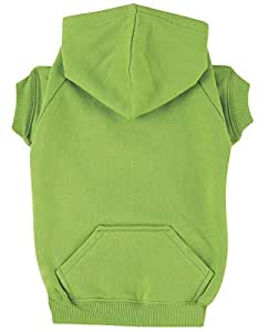 """Zack & Zoey Basic Hoodie for Dogs, 16"""" Medium, Parrot Green"""