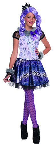 Girls Kitty Cheshire Costumes (Ever After High Kitty Cheshire Costume, Child's Large)