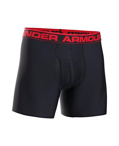 "Under Armour Men's Original Series 6"" Boxerjock, Black/Red, Small"