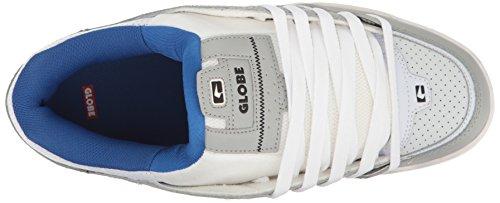 Globe Fusion - Zapatillas de skateboarding para hombre negro negro 12 M US Men Grey-Blue-White