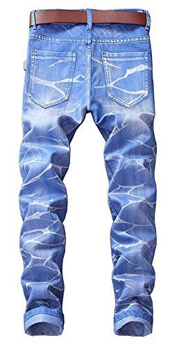 Fit Vintage Denim Classici Pantaloni 5 Casual Dritti Da Lavati In Slim Himmelblau Giovane Uomo Jeans Colori WqPqg8rf0