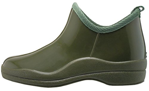 Comfortable Rainboot amp; Insole Natural With Gardenboot Rubber Hazel's High Women's Ankle Olive Jewel qYwpv16
