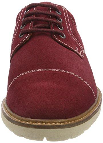Derby Cordones De red Para Manz Firenze Zapatos Rot Hombre Wine ngFxTwIqSt