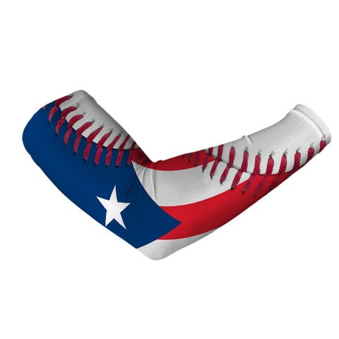 Puerto Rico Flag Baseball Lace Arm Sleeve L/XL by SLEEFS