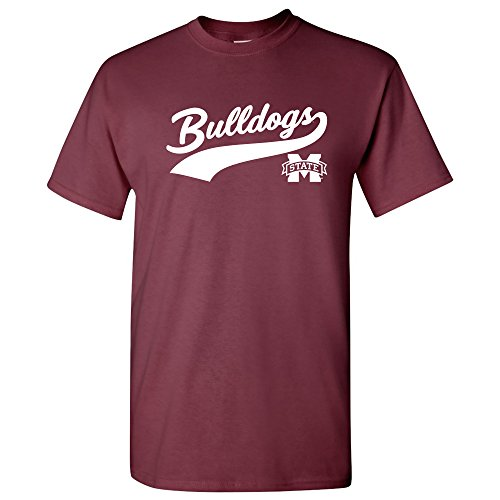 Bulldog Baseball Jersey - UGP Campus Apparel AS41 - Mississippi State Bulldogs Baseball Jersey Script T-Shirt - 3X-Large - Maroon