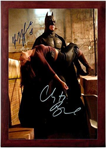 Batman Begins Replicas - Batman Begins Autograph Replica Super Print - Christian Bale Katie Holmes - Portrait - Framed