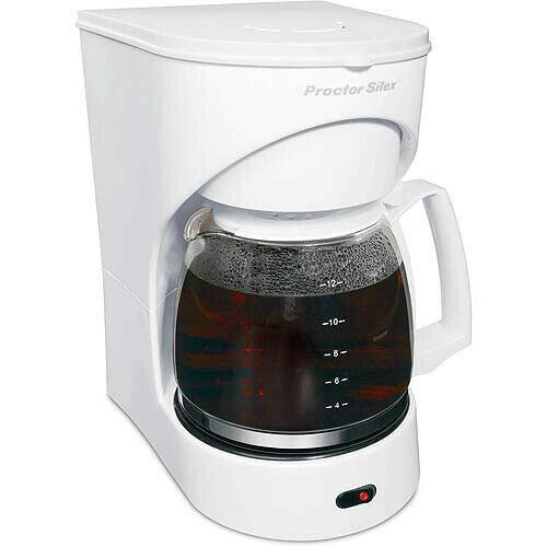 12-Cup White Coffeemaker ()