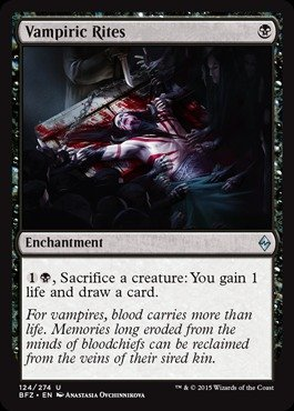 Magic: the Gathering - Vampiric Rites (124/274) - Battle for Zendikar