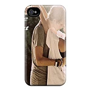 Iphone 4/4s Hard Back With Bumper Silicone Gel Tpu Case Cover Heartbeat