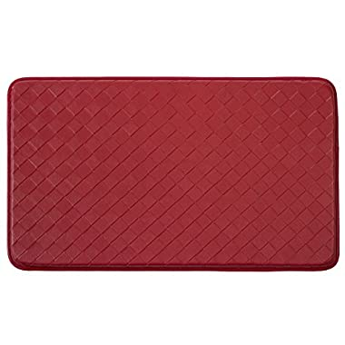 Chef Gear Diamond Weave Non-Skid Comfort Chef Mat, 18 by 30-Inch, Red