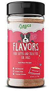 Basics Flavors Food Topper Gravy Dogs - Natural, Human Grade, Grain Free - Perfect Kibble Seasoning, Sprinkle Hydrating Treat Mix Picky Dog Puppy (Red Meat, 6.0oz)
