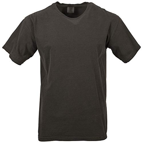 (Comfort Colors Men's Adult Short Sleeve Tee, Style 1717, Pepper, Large)