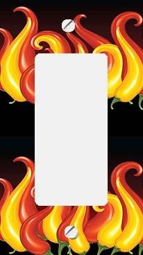 - Chili Pepper Flames GFI Rocker Switchplate Cover