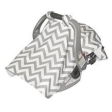 Jolly Jumper Infant Car Seat Veil, Grey/White