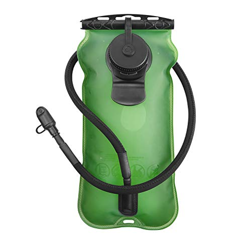 Hydration Bladder 3 Liter SKL Water Bladder for Hydration Pack Leak Proof BPA Free Water Backpack for Hiking Running Cycling Biking Climbing, Quick Release Insulated Tube, Army Green(3L)