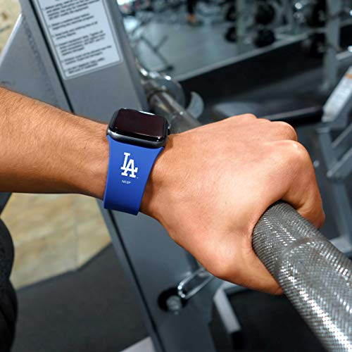 GAME TIME Los Angeles Dodgers Silicone Sport Band Compatible with Apple Watch 38mm/40mm Royal Blue