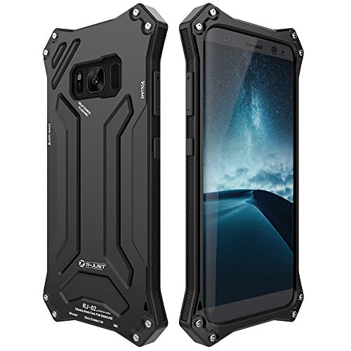 Galaxy S8 Plus Case, LIGHTDESIRE Shockproof Rugged Military Aluminum Bumper  Frame with Anti-Slip Side Grip for Samsung Galaxy S8 Plus (Black)